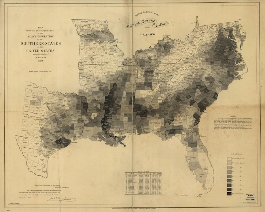 Map of the Week: Slave Populations in 1860