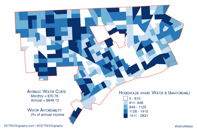Map: Detroit Water Affordability