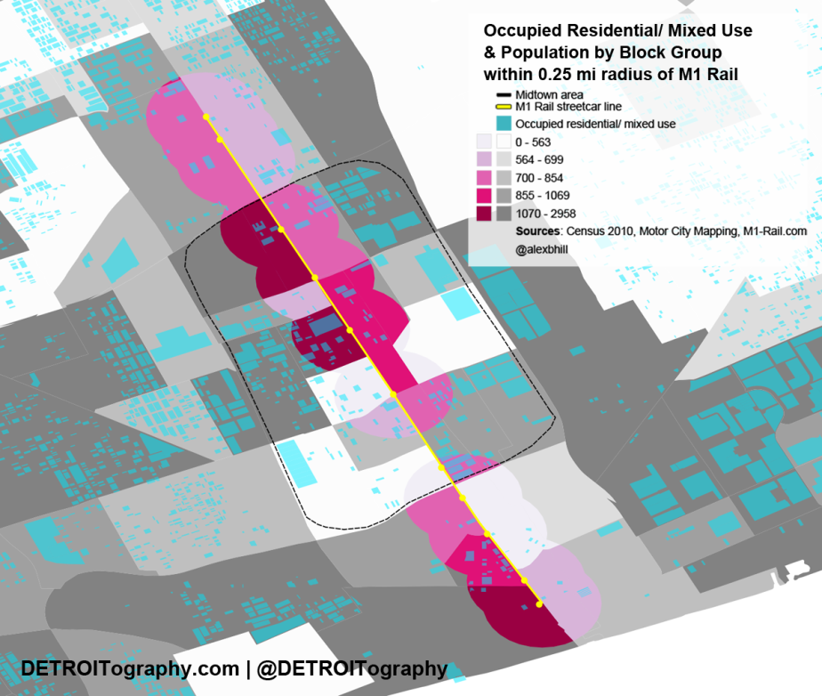 Map: Will the M1 Rail Streetcar Serve DetroitResidents?