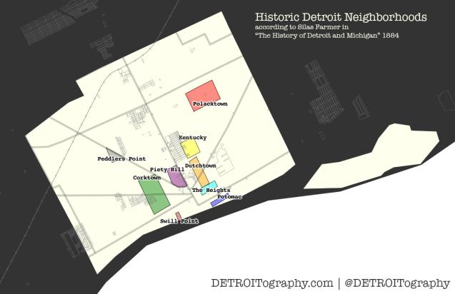 Map: Historic Detroit Neighborhoods1884