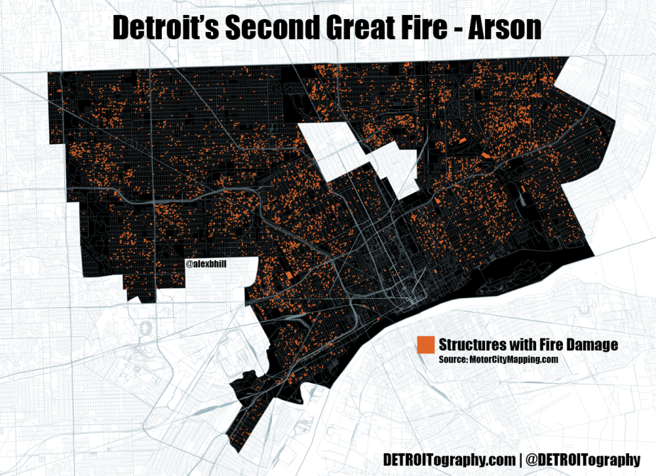 Map: Detroit's Second Great Fire