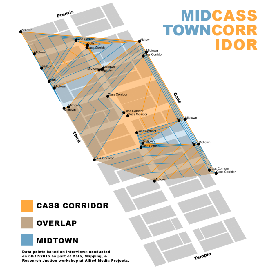 Map: Midtown or Cass Corridor? Responses from the streets ofDetroit