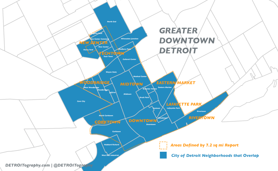 Map: What is Greater DowntownDetroit?