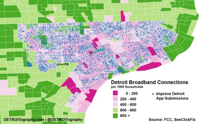 Map Detroits Digital Divide Alex B Hill