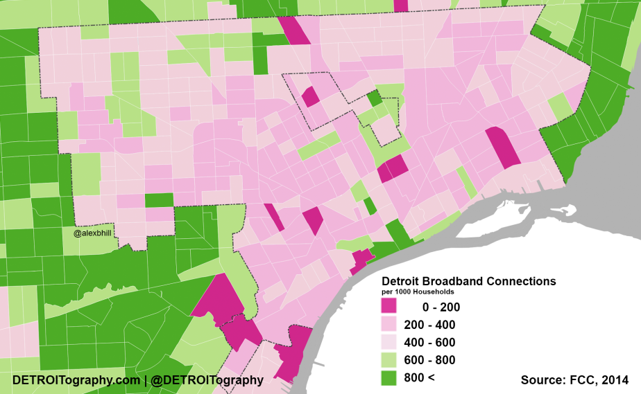 Map: Detroit's Digital Divide