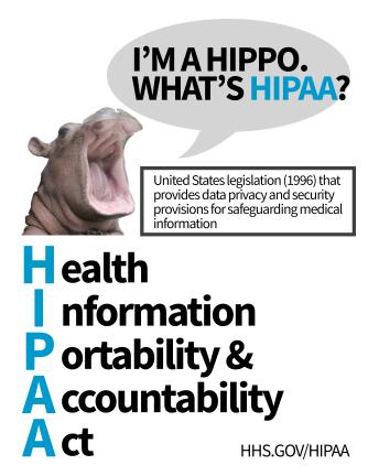 hipaa-hippo-poster