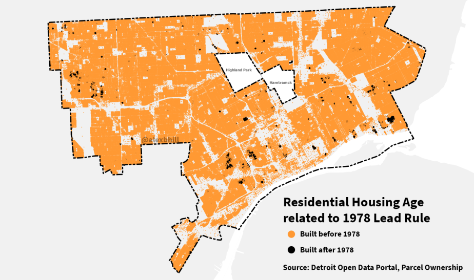 Map: Detroit is Full of OldHousing