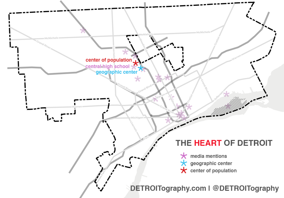 Map: Where is the Heart ofDetroit?